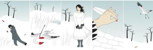 The Crane Wife: pentaptych by Crooty