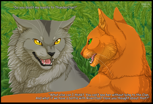 Graystripe and Fireheart by Vialir