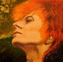 David Bowie in oils by sunstrip