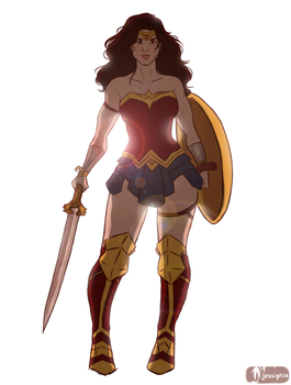 Wonder Woman- Diana by Jessiphia