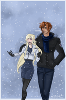 Lovely Snowfall by ElizaLento