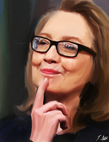 Hillary Clinton by whatthefawkes