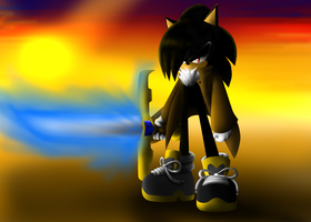 practice 3D of zizors the hedgehog by SonicXstar