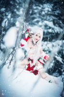 On the Prowl - Snow Bunny Nidalee Cosplay by TineMarieRiis