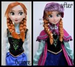 repainted ooak singing snow gear anna doll. by verirrtesIrrlicht