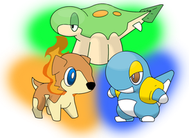 Anuro Region Starters by fire-warrior74