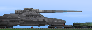 'Gustav' Nuclear Cannon by PrinzEugn