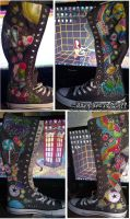 Underwater Space Candy Boots by marywinkler