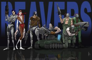 80's X-Men - The Reavers by feeesh