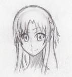 Monthly Doodles #1 - Sketch: Asuna by RussellStar