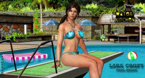 Lara Croft    POOL-QUEEN by blw7920