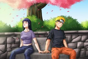 NaruHina - The long awaited moment by Amenoosa