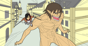 Attack On Titan in MS PAINT by 5zal