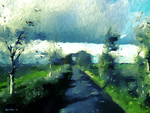 The Landway - A  Quick Study In Blue and Green by Nigel-Hirst