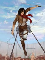 Mikasa by Eltyria
