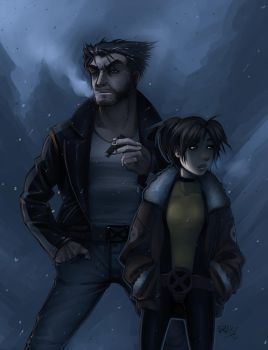 Logan and Kitty by vashperado