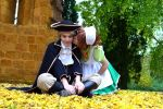 Fallen leaves- Hre x Chibitalia cosplay by Voldiesama