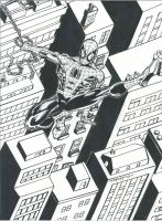 SPIDEY OVER ROOFTOPS by FanBoy67