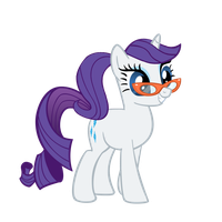 Rarity with a ponytail by Rarity6195