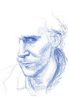 Tom Hiddleston - Ballpoint Pen Sketch by Paleosonic