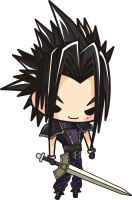 Final Fantasy 7 Zack Fair Chibi by houssamica