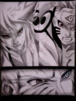 Minato and Naruto Vs Obito by Robert-Sennin
