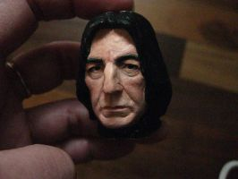 Severus Snape mini portrait painted 4 by MarieChristensen