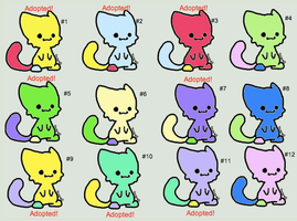 Free Chibi Cats Set 12: 4/12 Open! by WarriorCatLuver123