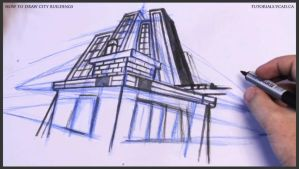 Learn how to draw city buildings 028 by drawingcourse