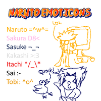 Naruto Emoticons by bright-as-a-button