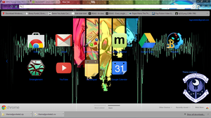 Chrome Theme - MLP DJ Pon3 by Lagmobile