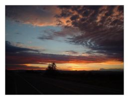 new mexico sunset by painfullyxuncool