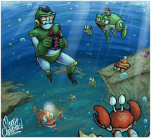 secret santa - underwater christmas by Peegeray