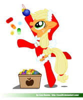 Applejack Xmas by JcosNeverExisted