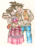 Westernised Goku And Chichi by animewannabe55