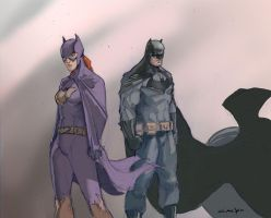 Batman and Batgirl by PhilipSasko