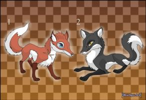 [Closed] Commission: Fox Adoptables by MySweetQueen