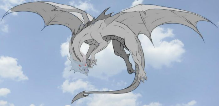 Silver's dragon form. by the-silver-hero