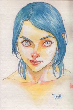 Practice in watercolor by Tozani