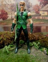 Green Arrow in Seattle Living Diorama by skphile