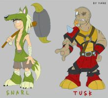 AfA Project- Snarl n Tusk by Yark-Wark