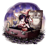 Dream witch (in a suitcase) by nuuti