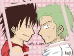 Luffy x Zoro by kojiKira