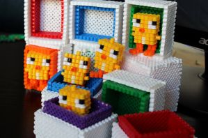 Easter Chickens - Hama Beads by lwordish