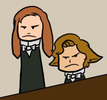 Angry Alfred and Jimmy by Kaxen6