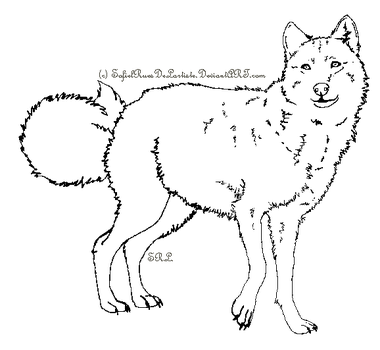 Wolf Template 2 by SofielRuesDeLartiste