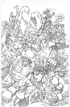 Marvelvs.Capcom 3 promo pencil by NgBoy