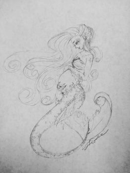 Mother's Day Mermaid by AdelinaVixen