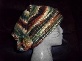 Knitted Slouch Hat- Camouflage by StaceyQuay