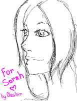 Sarah, sketch by Teymar